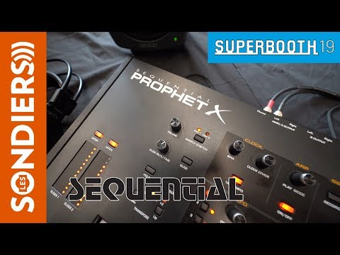 [SUPERBOOTH 2019] SEQUENTIAL PROPHET X Firmware v2.0 (doublage français)
