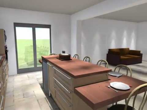 Ilot central youtube - Fabriquer table haute cuisine ...