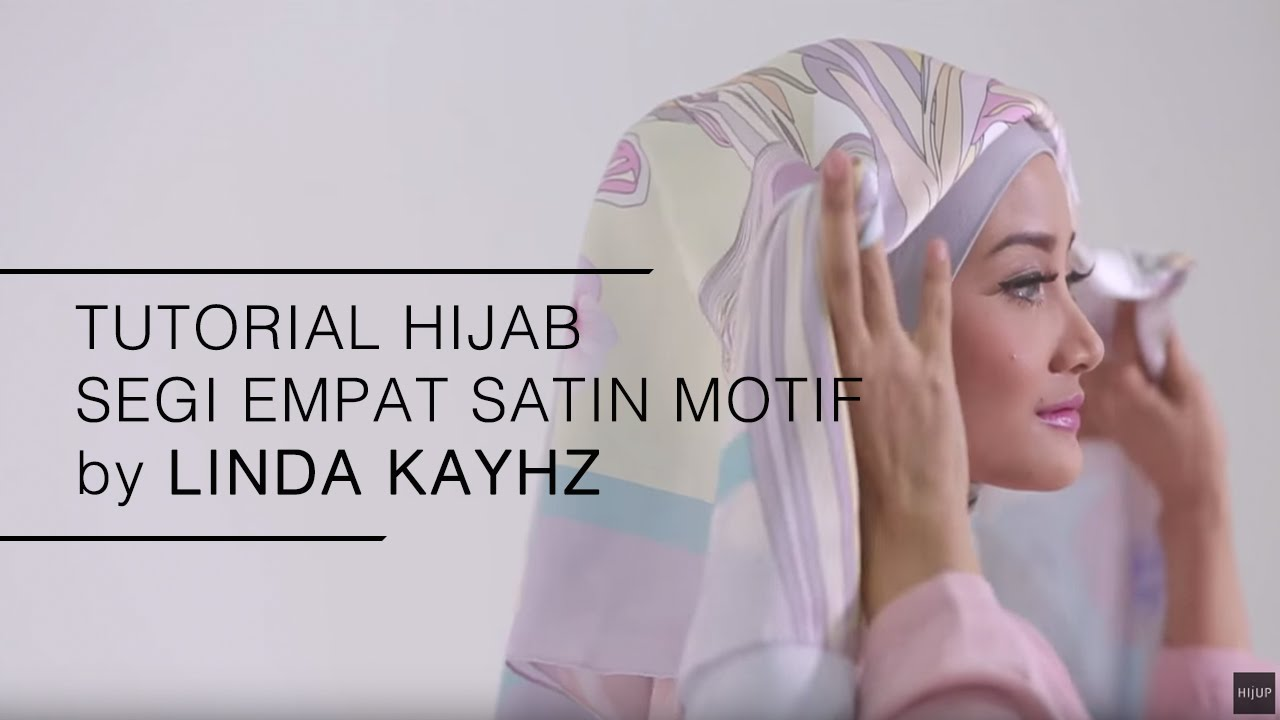 Tutorial Hijab 2016 Tutorial Hijab Segi Empat Satin Motif By