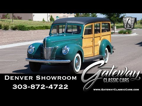 1940 Ford Woody Wagon Deluxe - Denver Showroom #582 Gateway Classic Cars