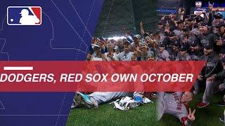 Dodgers, Red Sox sizzle through postseason gauntlet