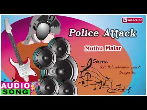 Muthu Malar Song | Police Attack Tamil Movie | Arun Pandiyan | Rambha | Manoj | Music Master