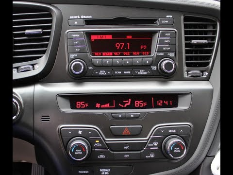 How to Remove Radio / Display / CD Player from Kia Optima 2012 for Repair.