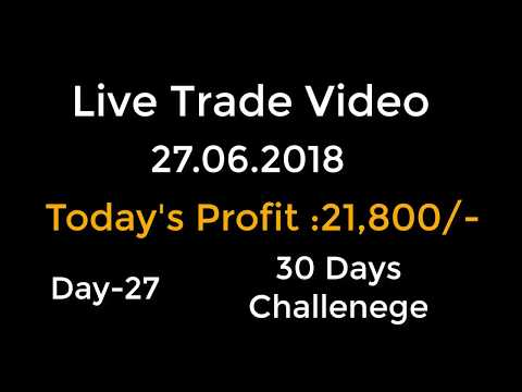 Day-27 Live Trade Video TCS Profit Rs.21,800/-