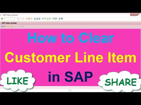 How to Clear Customer Line Item in SAP