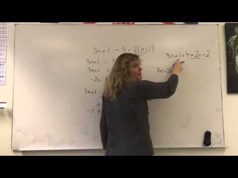 simple algebra reorganise one equation with x on both sides of equals sign