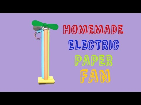 How To Make A Mini Fan | How To Make A Hand Fan | Mini Electric Paper Fan | Very Easy