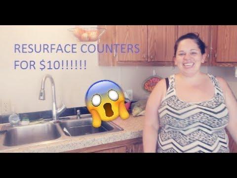 DIY COUNTER UPDATE | $10 RESURFACING