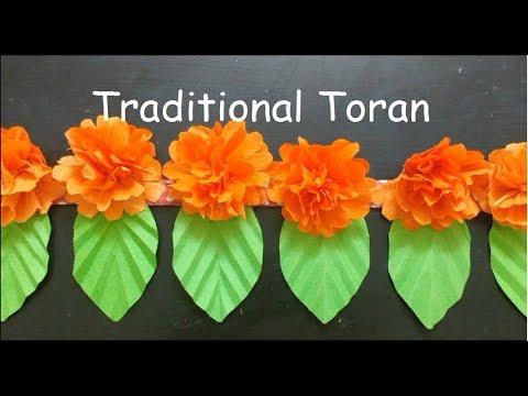 Diy Trendy Toran Door Hangings With Paper At Home Diwali Decoration Ideas Easy Bandhanwar Ideas