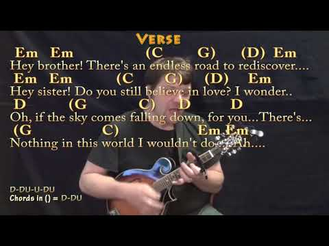 Hey Brother (Avicii) Mandolin Cover Lesson with Chords/Lyrics - Capo ...