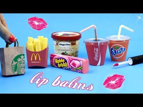 DIY Lip Balm {Easy}! 5 Miniature Starbucks,Soda,McDonalds & Bubblegum Lip Gloss DIYs-Lip Balm How To