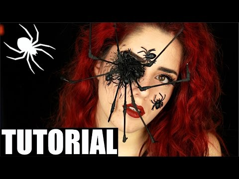 spinne halloween make up tutorial deutsch i luisacrashion. Black Bedroom Furniture Sets. Home Design Ideas