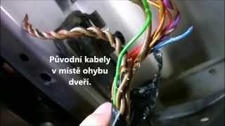 VW GOLF PLUS (2005) oprava kabelového svazku dveří