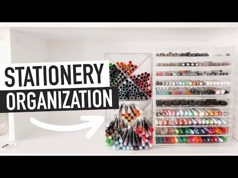 STATIONERY ORGANIZATION TIPS & IDEAS | home office storage