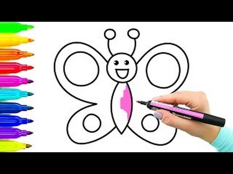 Exemplo Simples Como Desenhar Borboleta Livro De Colorir Com