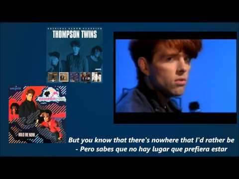 Thompson Twins - Hold Me Now (1983)(Lyrics - Letras)(Sub)(Remastered) Traducida