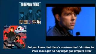 Thompson Twins - Hold Me Now (1983)(Lyrics - Letras)(Sub)(Remastered) Traducida