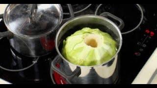 Как снять листья с капусты для голубцов мастер-класс от шеф-повара / Илья Лазерсон / Полезные советы