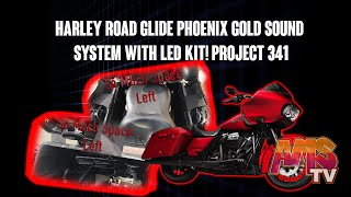 Harley Road Glide Phoenix Gold sound system with LED Kit!!! Project 341