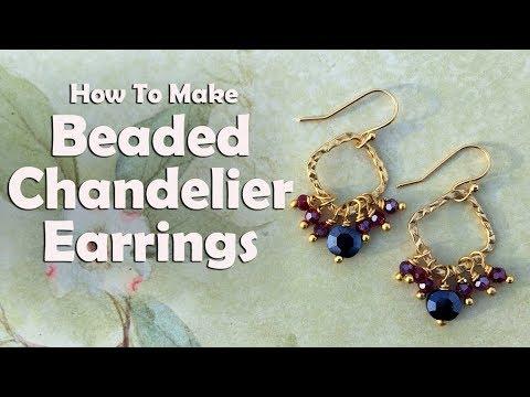 Beaded chandelier earrings easy jewelry tutorial youtube beaded chandelier earrings easy jewelry tutorial aloadofball Images