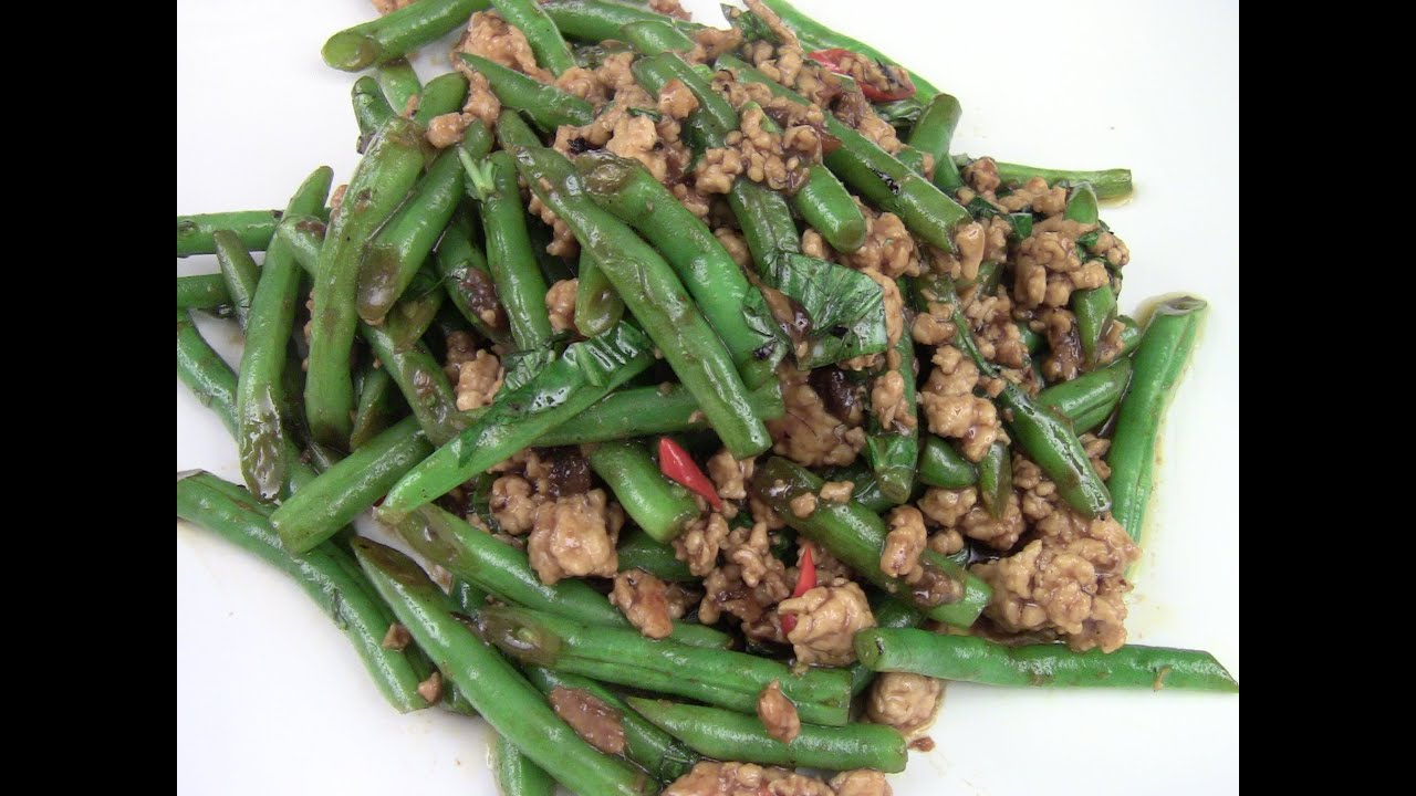 Spicy Green Beans With Ground Turkey Stir-Fry - YouTube