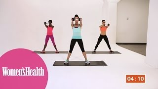 Quick Workout: The 5-Minute One-Dumbbell Workout For Total-Body Toning from Women