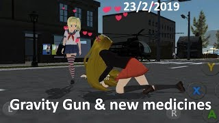School Girls Simulator 23/2/2019  gravity gun & new medicines