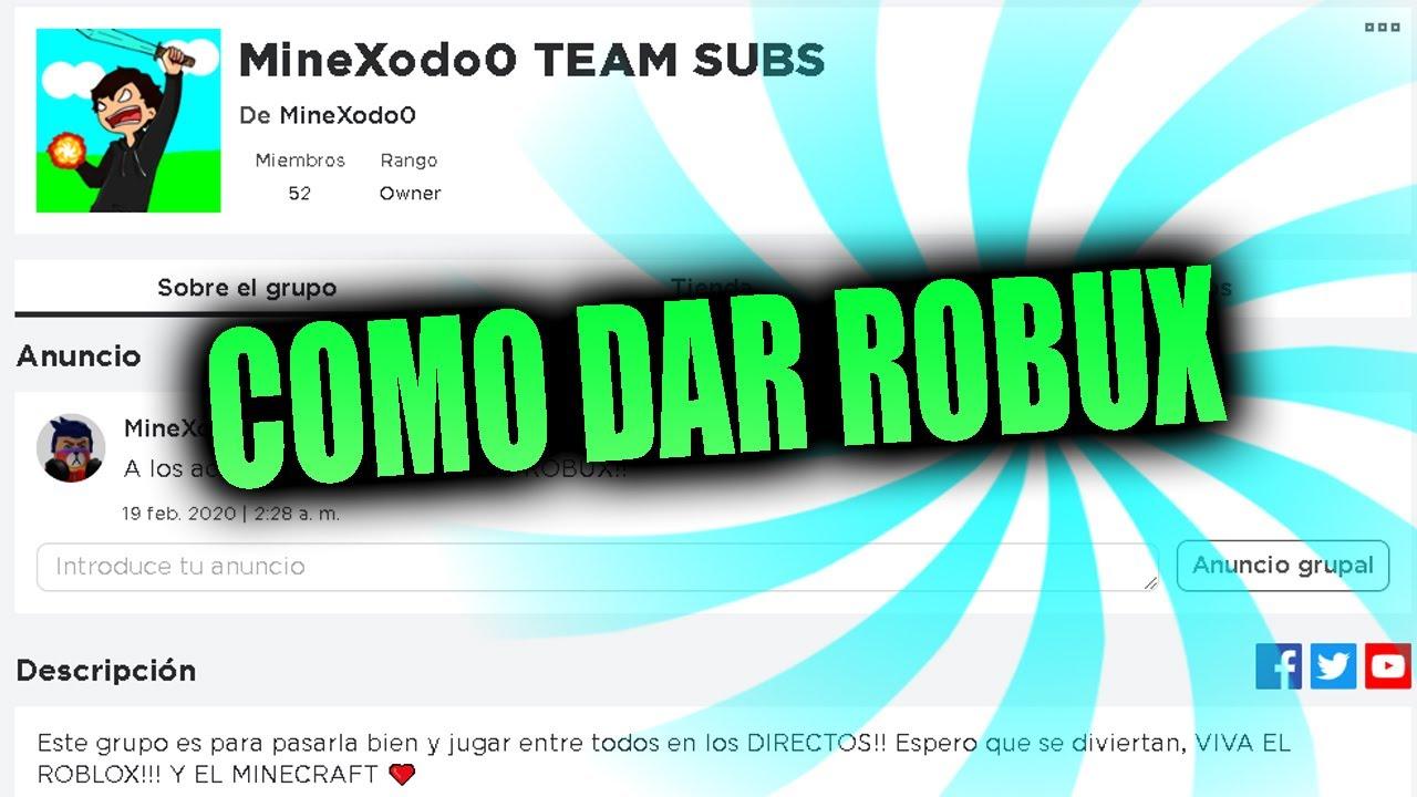 Como Donar Robux Roblox 2020 Espanol Youtube