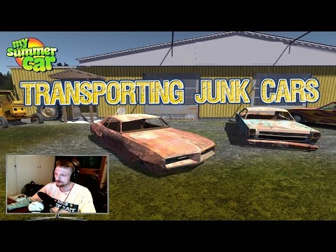 MY SUMMER CAR (NEW UPDATE 24.11.16) TRANSPORTING JUNK CARS !