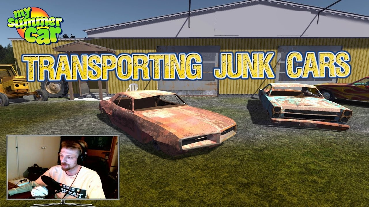 MY SUMMER CAR (NEW UPDATE 24.11.16) TRANSPORTING JUNK CARS ! - YouTube