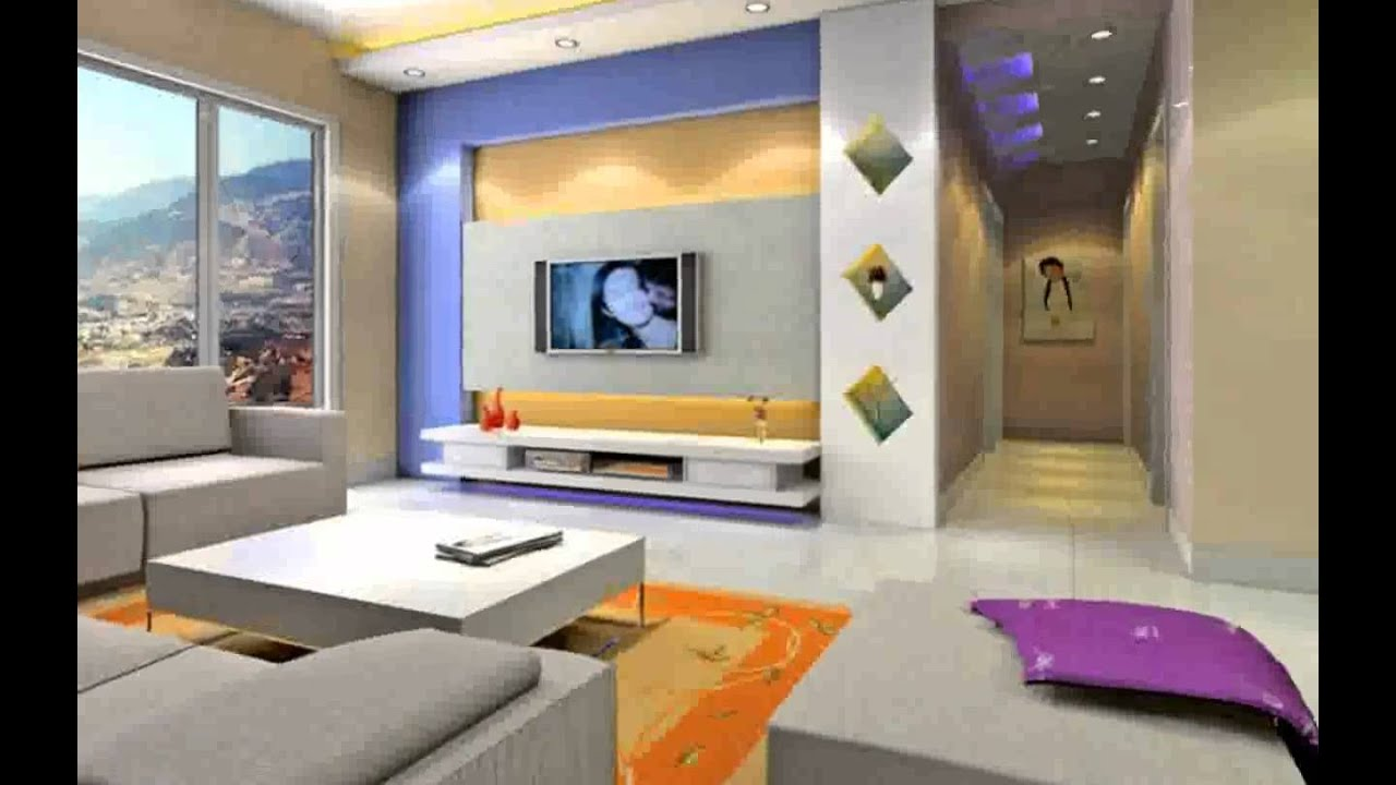 Wall Colour Combination for Living Room - Design Decoration - YouTube