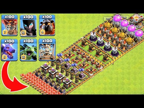Who Can Survive This Difficult Trap on COC? Trap VS Troops #4