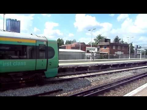 Trains at East Croydon station 23/7/16