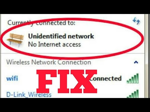 How to Fix Unidentified Network No Internet Access windows 7,8,8 1,10