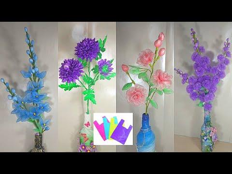 Цветы из пакетов для мусора своими руками мастер класс