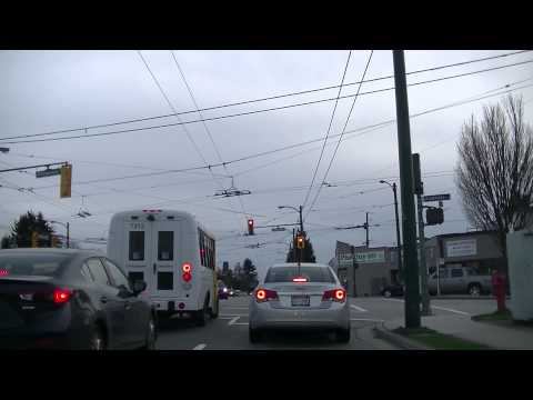Vancouver Streets - Driving on Commercial & Victoria Drive - Tour of City of BC Canada