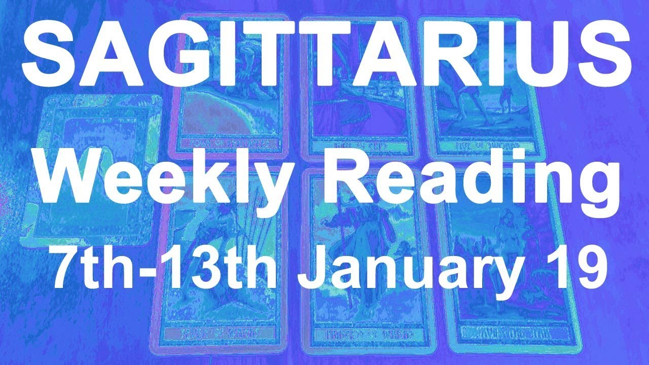 sagittarius weekly 13 to 19 tarot video
