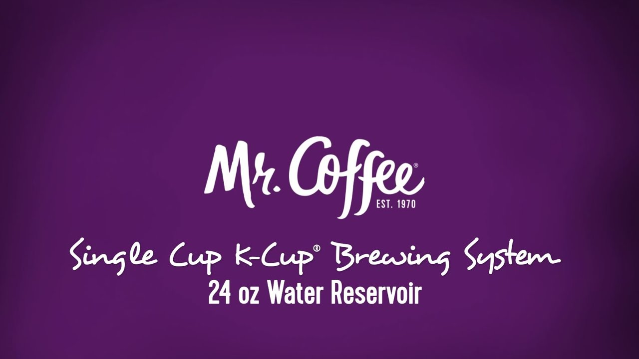Mr Coffee Single Cup K Cup Brewing System Youtube