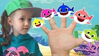 Shark Finger Family | Finger Puppets | Baby Shark song for children by Ulya