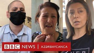 """Yasamalda oğlu polis tərəfindən saxlanılan ana: """" Mənim uşağımın günahı 5 dəqiqə hava almaqdır"""""""