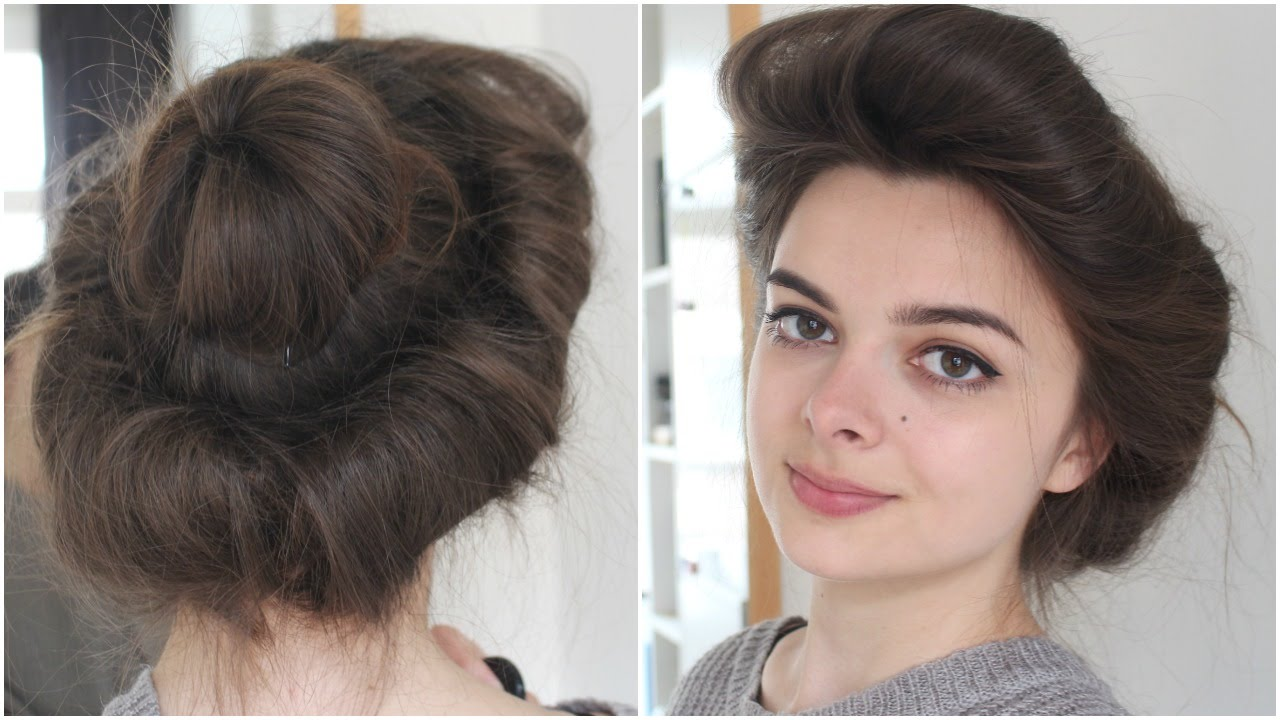 Gibson Girl Hair Tutorial | Historical Hairstyling - YouTube