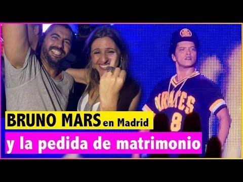 Le pide matrimonio en el concierto de Bruno Mars en Madrid
