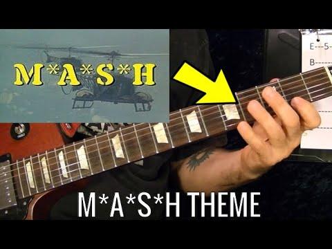 Mash Tv Show Theme Guitar Lesson Youtube