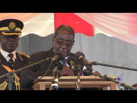 Aguy Georgias Burial-President Mugabe Speaks (Clip A)