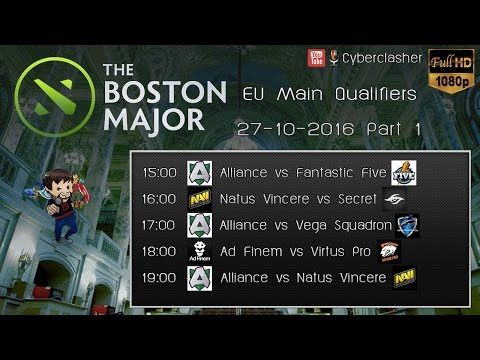 [TH 1080P] DOTA2 Boston Major 2016 EU Main Qualifier #DAY 1 - Part 1