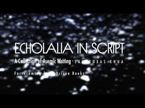 ECHOLALIA IN SCRIPT - A Collection of Asemic Writing | Book trailer fundraiser