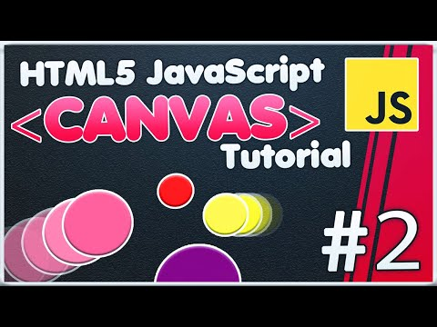 HTML5 Canvas JavaScript Tutorial | Creating classes and object circles dynamic [#2] thumbnail