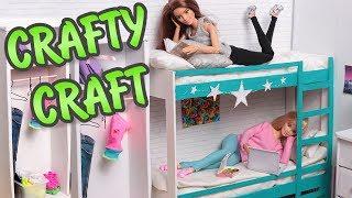 як зробити двоярусне ліжко для ляльок з коробки під взуття