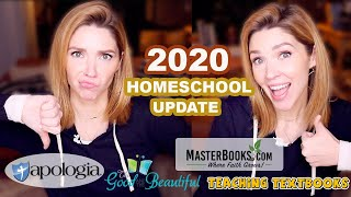 Homeschool Curriculum 2020 End Of Year Update \\The Good + The Beautiful, Apologia,Masterbooks+More!