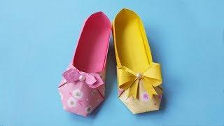 漂亮的高跟鞋折纸,做法很简单,关键漂亮女生都喜欢